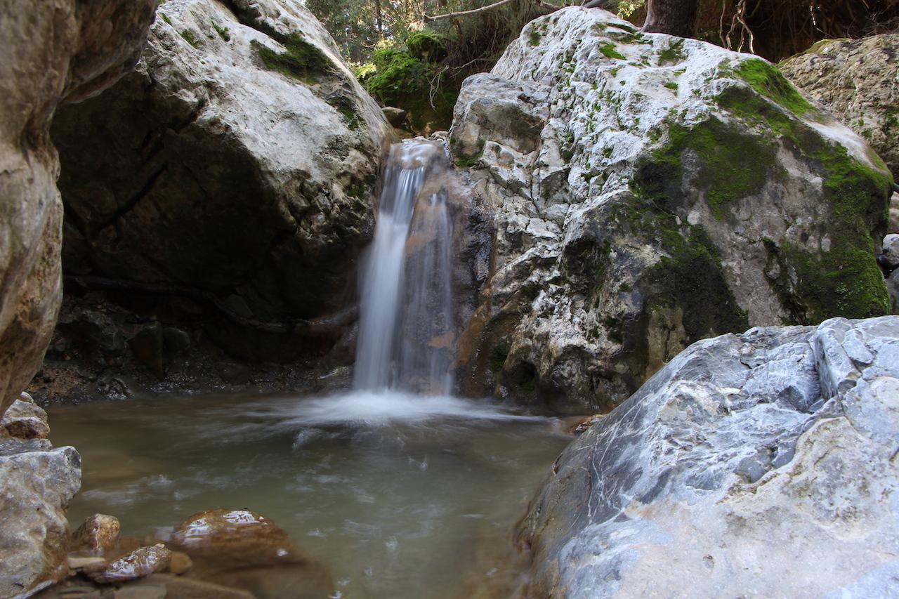 Beautiful waterfalls in Messaria on the island of Kos in Greece