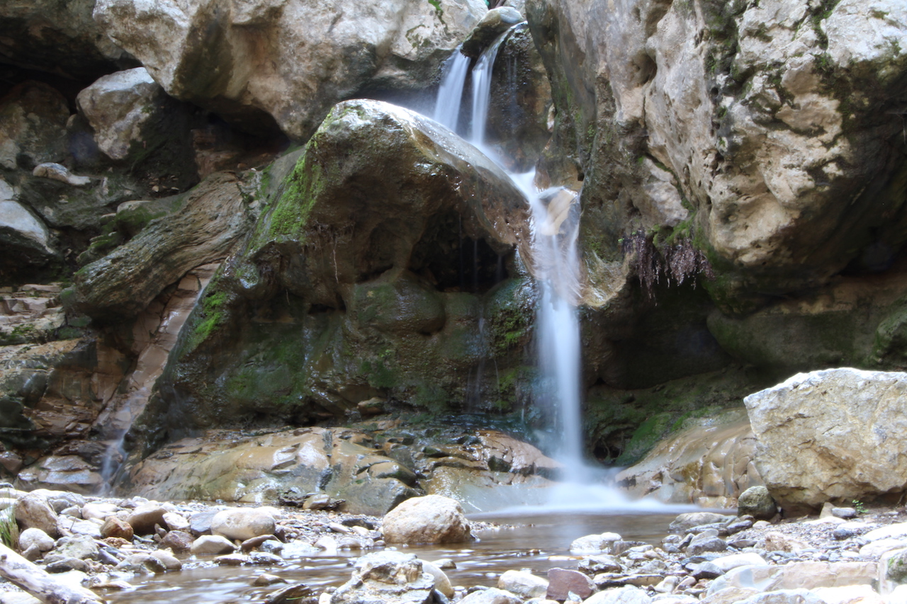 Beautiful waterfalls in Messaria on the island of Kos in Greece