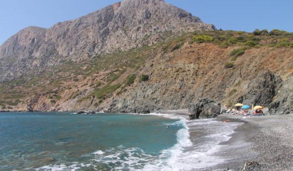 Hochlakas Beach in Telendos