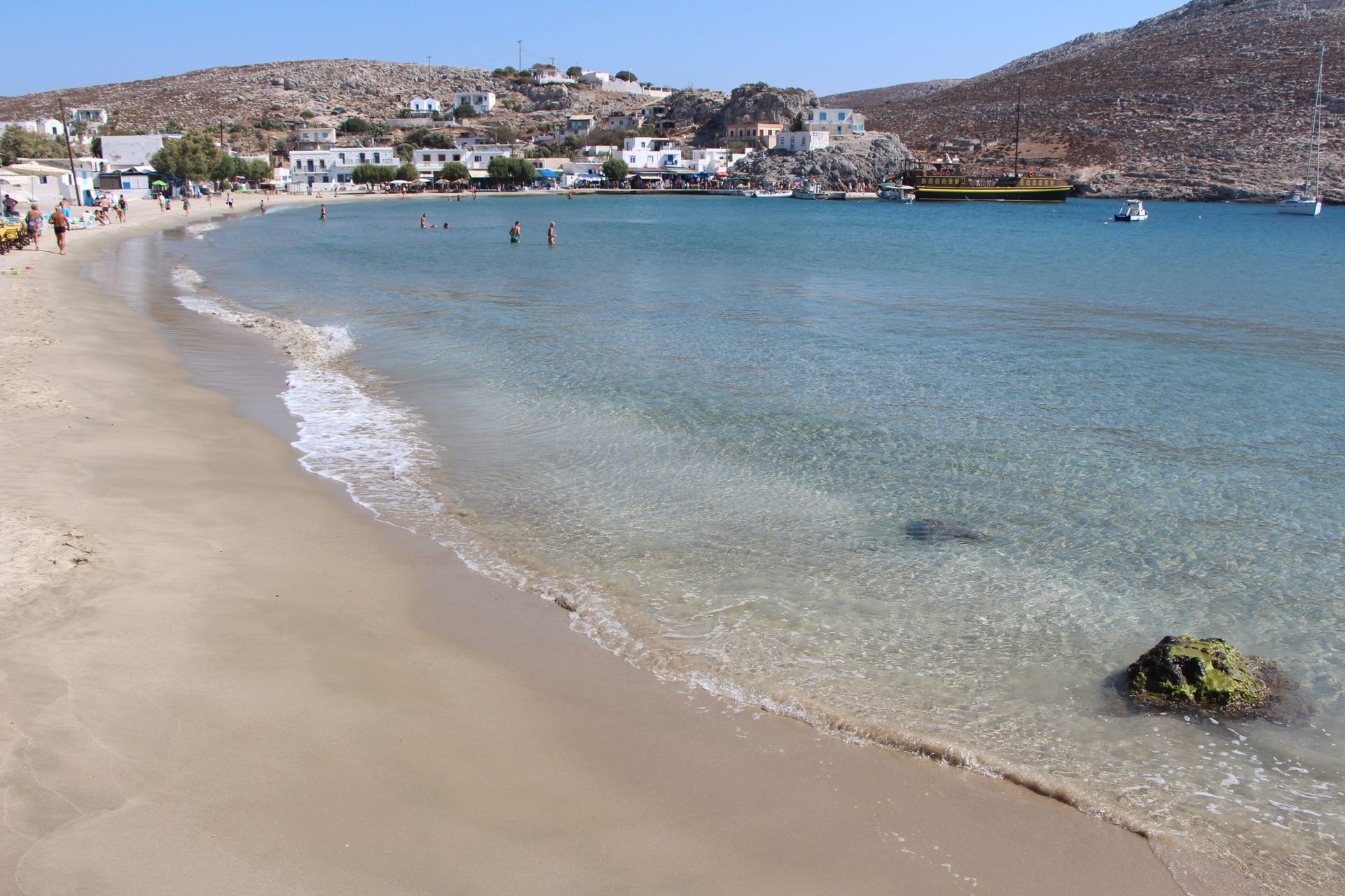 The Avlaki Beach in Pserimos