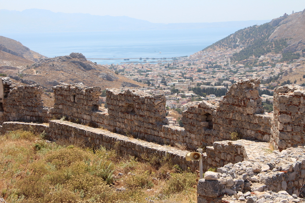 The battlements of Chora Castle in Kalymnos