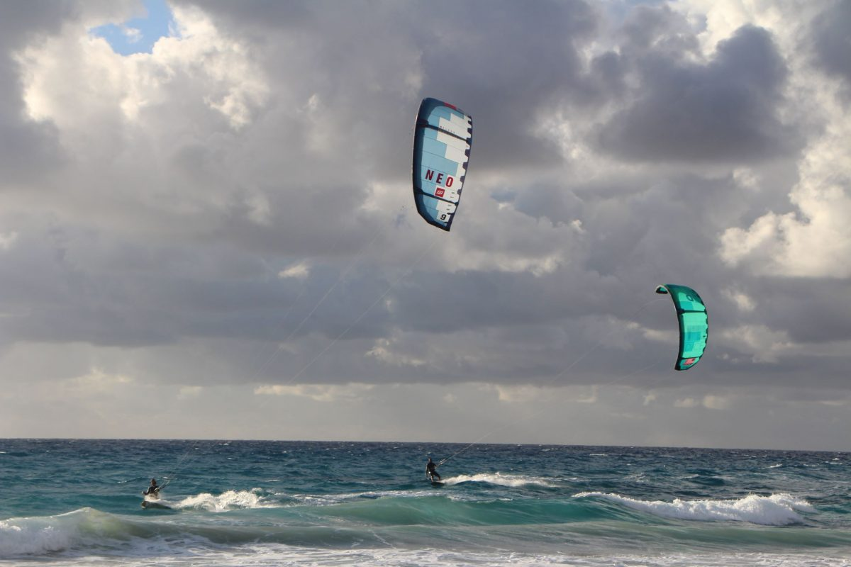 Kiteboarding in Aghios Theologos