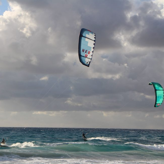 Kiteboarding in Aghios Theologos